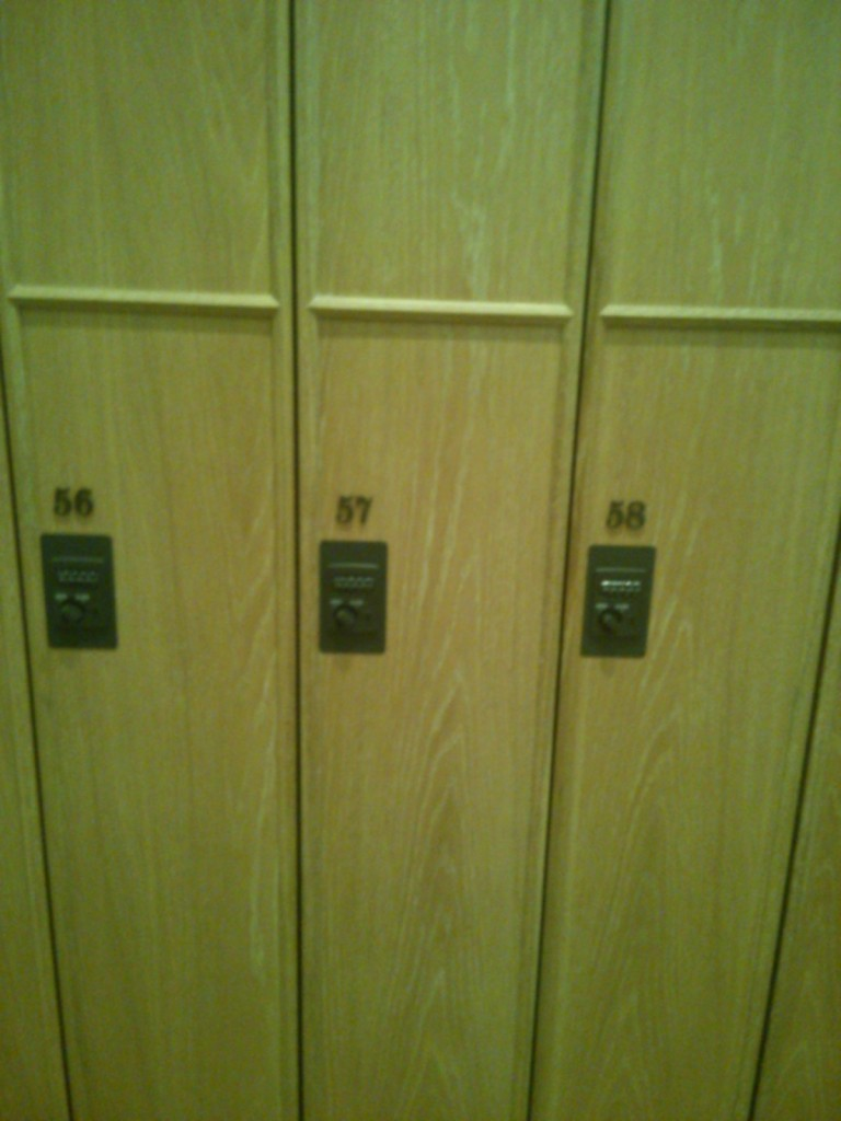 You may choose whichever locker you wish.