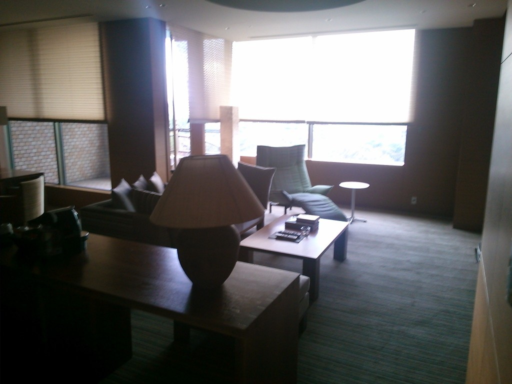 The living room of a Hyatt Regency Tokyo Presidential Suite