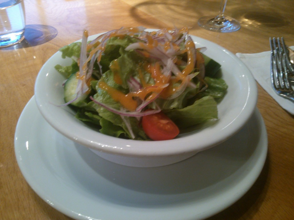 Although those experienced with the Regency Club will not that this salad has onions.